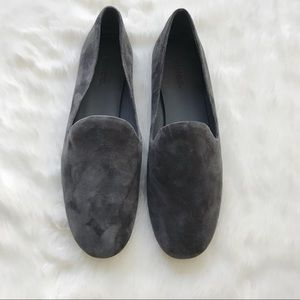 88c87ae13b7 Vince Shoes - Vince Pewter Suede Milo Loafers